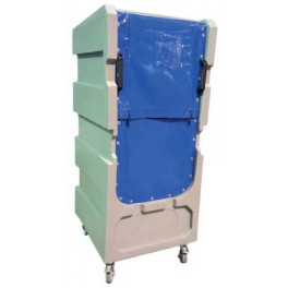 "5ft 6"" Distribution Trolley (50/50 Zip Curtain Opening with Solid Top)"