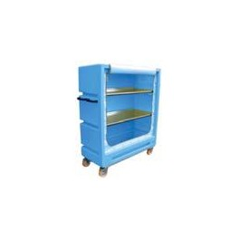 "4ft 11"" Distribution Trolley (Curtain Model with 2 Aluminium Shelves)"