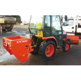 Drop Salt Spreader - 16hp Tractor Mounted - 210L Heavy Duty Hydraulic Driven