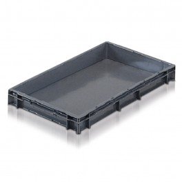 Euro Stacking Plastic Containers (600 x 400 x 73mm) - Pack size 1