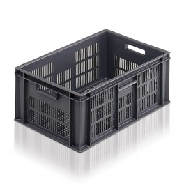 Euro Stacking Perforated Containers (600 x 400 x 235mm) - Pack size 1