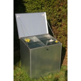 Weather Proof Double Compartment Feed Bin - 2 compartments