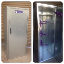 4 Saddle Extra Wide Tack Locker - galvanised - standard