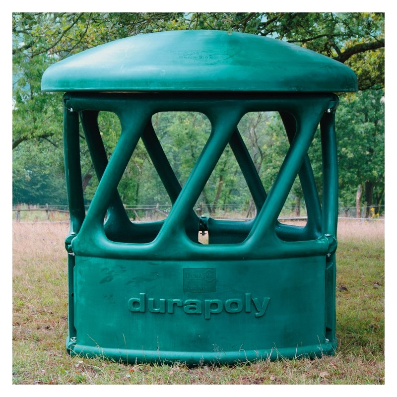 Heavy Duty Round Bale Feeder 4 Part Green Horse Show