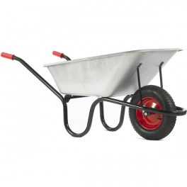 120L County Galvanised Barrow c/w Pneumatic - Standard Tyres