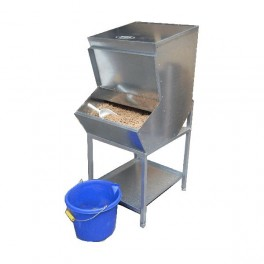 Double High Level Feed Bin - Double 1 compartment