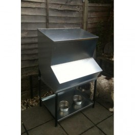 Triple High Level Hopper Feed Bin - 1 compartment