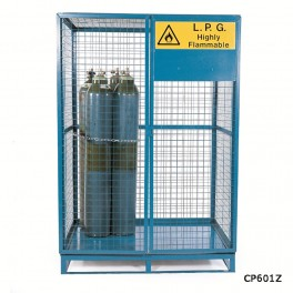 Cylinder Storage Lock Up Cages - 1360 x 1095 x 1840mm - Painted (comes as standard)
