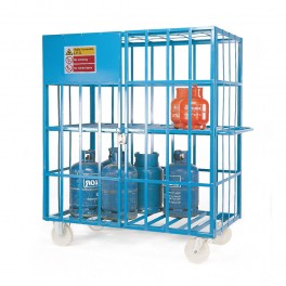 Gas Cylinder Cages - 1610 x 890 x 1800mm - Painted (comes as standard)