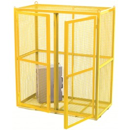 Security Cages - Painted Yellow Mobile - 700 x 700 x 880mm (comes as standard)