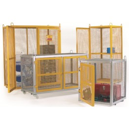 Security Cages - Galvanised Mobile - 700 x 700 x 880mm (comes as standard)