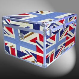 Customisable Storage Trunk - L97 x W74 x H55 cm - 395 Litre - Wooden, ABS Trim