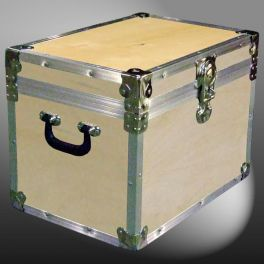 Customisable Storage Trunk - L49 x W34 x H37 cm - 61.5 Litre - Wooden, ABS Trim