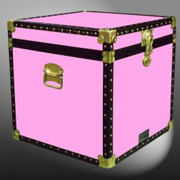 Customisable Storage Trunk - L49 X W49 X H49 cm - 118 Litre - Wooden, ABS Trim