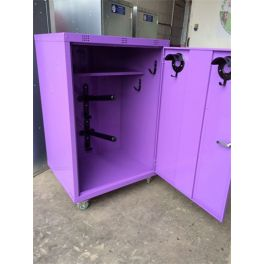 Extra Wide Mobile Coloured Locker - 2 poles