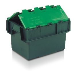 Tote Box, Attached Lid Container - 20L