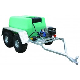 400 Litre Pro Trailer Sprayer - 12L/min Spray Marshal Pump - 60m Hose Reel