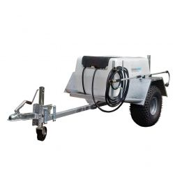 200L Site Tow Trailer Mounted Water Bowser - 12V - 19L/m 60Psi - Single Axle