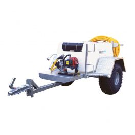 "500L Site Tow Trailer Mounted Water Bowser - 1"" Pump - 120L/m - Single Axle"