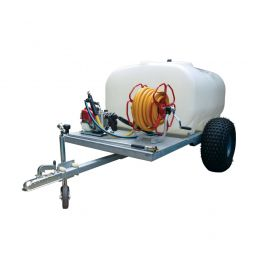 """700L Site Tow Trailer Mounted Water Bowser - 1"""" Pump - 120L/m - Single Axle - Blue Tank"""