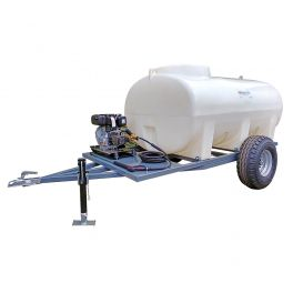 2000L Site Tow Interpump Pressure Washer Trailer Unit - 10LPM - 2175PSI - Petrol - Recoil Start