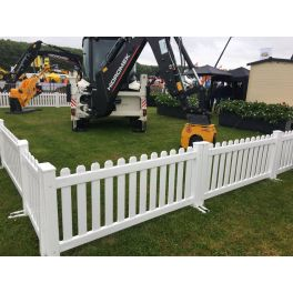 """6ft wide x 39"""" high Temporary Picket Fence (Assembled)"""