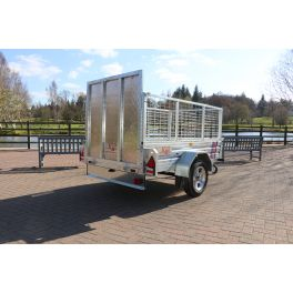 7ft x 4ft Trailer 750kg Caged & Ramped Heavy Duty Galvanised Box Utility ROAD LEGAL