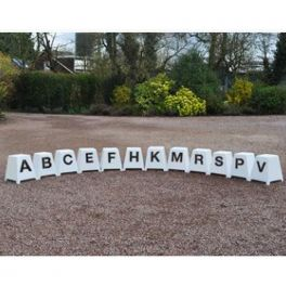 Dressage Markers Set of 12 (Small Towers inc. 1 Letter)