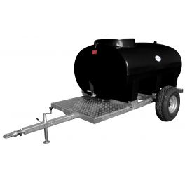 1200L Site Tow Trailer Mounted Water Bowser - Single Axle - Blue Tank