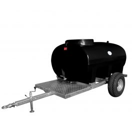 2000L Site Tow Trailer Mounted Water Bowser - Single Axle - Blue Tank