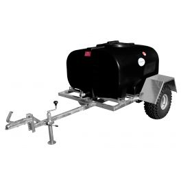 700L Site Tow Trailer Mounted Water Bowser - Single Axle - Blue Tank