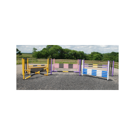 6 Fence Combi C Course with Practice (lightweight) Pole Choice