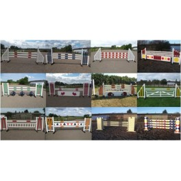 BSJA Set of 12 Premium Jumps  - 8 ft x 4 ft