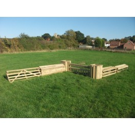 SET 6 - 3 Pillars and 6 Fences plus 6 poles - 8 ft