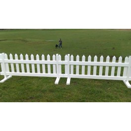 "6ft wide x 33"" high Temporary Picket Fence (Pack of 1)"