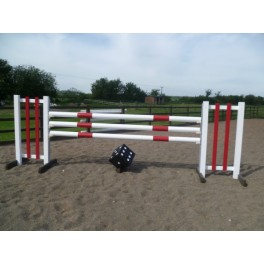 BSJA Show Jumps - Red Bar + Dice Set  - 8 ft x 5 ft