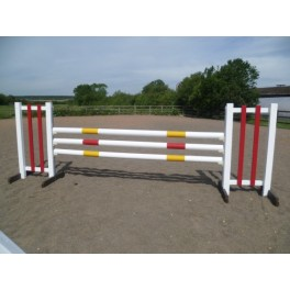 BSJA Show Jumps - 3 Pole Set  - 8 ft x 5 ft