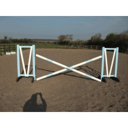 Show Jumps - Set A - 4ft Wings, 8ft Poles + Cups -Rustic