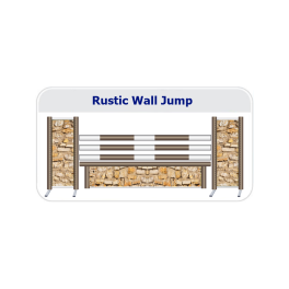 Rustic Wall Working Hunter Fence c/w Hanging Filler and Competition Pole