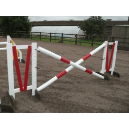 Show Jumps - Set D - 5ft Wings, 10ft Poles + Cups - White & Red