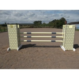 Castle End Jump Set - 8 ft x 4 ft - As in picture (lemon)