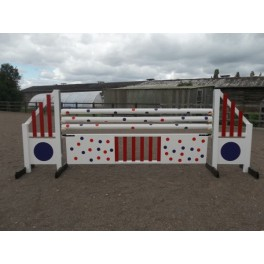 BSJA Show Jumps - Spotted Jail Bar Set  - 8 ft x 5 ft