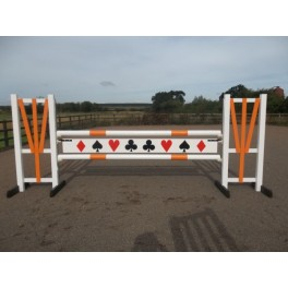 BSJA Show Jumps - Orange Card Set  - 8 ft x 5 ft