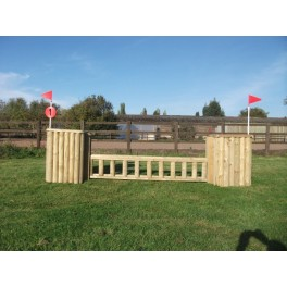 SET 1 - 2 Pillars and 1 Palisade fence - 8 ft