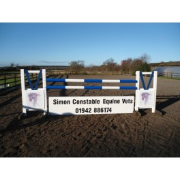 Personalised Jumps - Style 4 - 8 ft x 4 ft, One colour, advertising One side