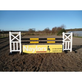 Personalised Jumps - Style 6 - 8 ft x 4 ft, One colour, advertising One side