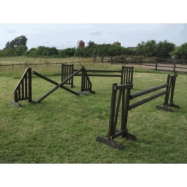 Show Jumps - Working Hunter - SET OF 3 - 4ft Wings, 8ft Poles + Cups