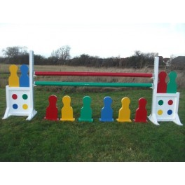 Skittle Set - 8 ft x 4 ft - 3 skittles