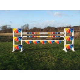 Rainbow Pie Set - 8 ft x 4 ft - Front Graphics