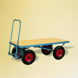 4 WHEEL FLAT TOP TURNTABLE TROLLEY